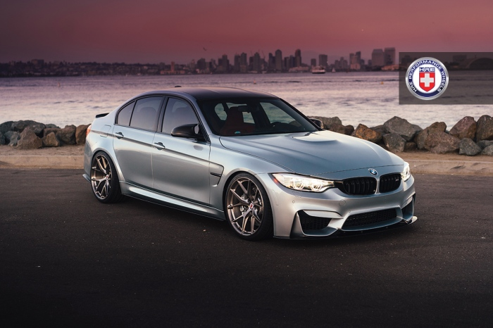 BMW-M3-F80-with-HRE-P101-in-Brushed-Dark-Clear-7