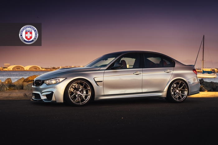 BMW-M3-F80-with-HRE-P101-in-Brushed-Dark-Clear-9
