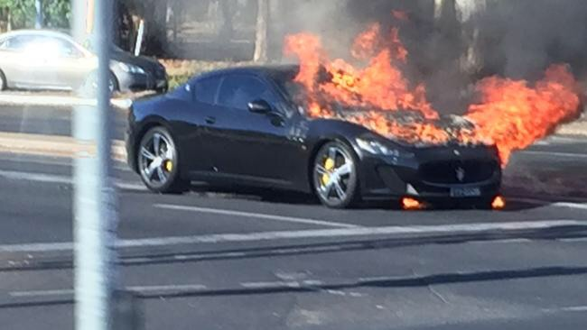 Maserati GranTurismo MC Stradale Goes Up In Flames DBN - Iconic sports cars
